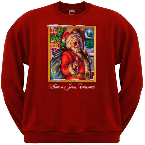 Jerry Garcia - Christmas Crew Neck Sweatshirt