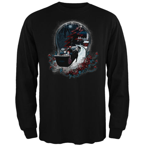 Grateful Dead - Winter Sleigh Black Long Sleeve T-Shirt