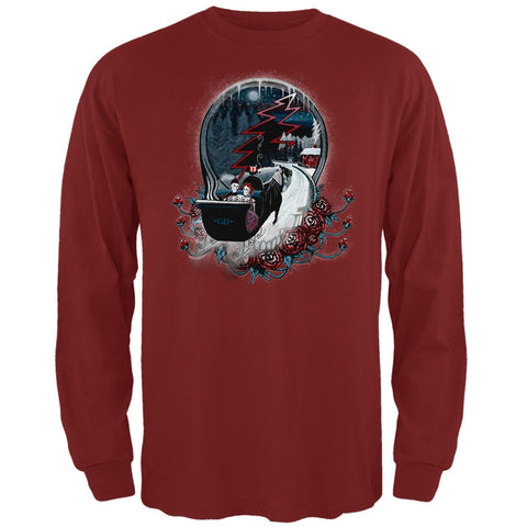 Grateful Dead - Winter Sleigh Cardinal Long Sleeve T-Shirt