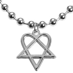 HIM - Heartagram Ball Chain Necklace