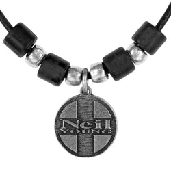 Neil Young - Cross Circle Pendant Choker Necklace