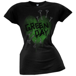 Green Day - Nail Heart Juniors T-Shirt