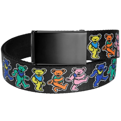 Grateful Dead - Dancing Bears Rainbow Web Belt