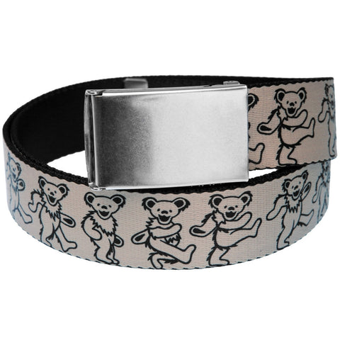 Grateful Dead - Dancing Bears White Web Belt