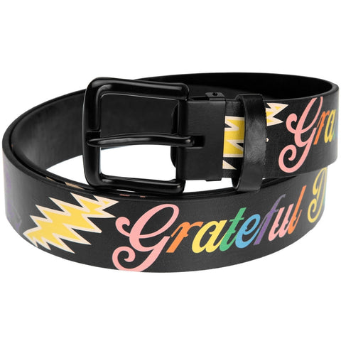 Grateful Dead - Bears And Bolts Leather Belt