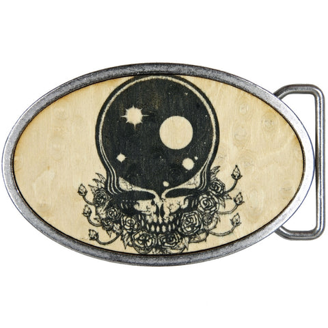 Grateful Dead - Space Your Face Wood Belt Buckle
