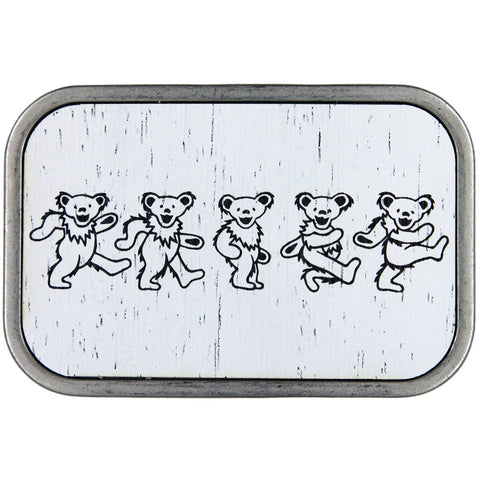 Grateful Dead - Dancing Bears Wood Belt Buckle