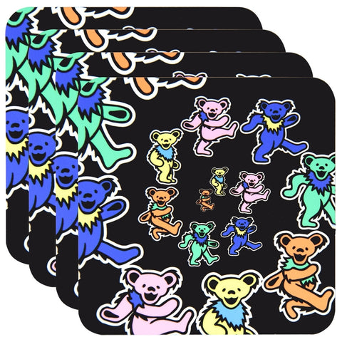 Grateful Dead - Dancing Bears Spiral 4 Piece Coaster Set