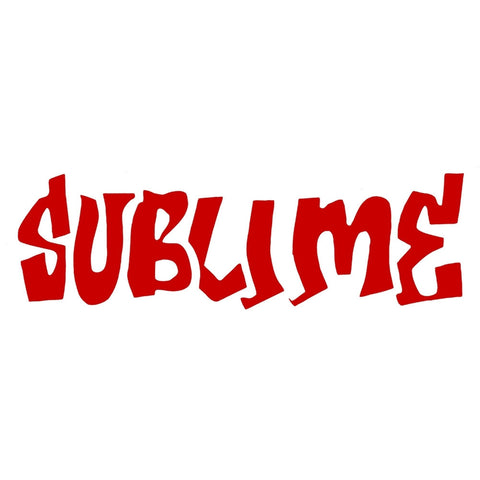 "Sublime - Red Logo Cutout Decal 2"" x 6"""