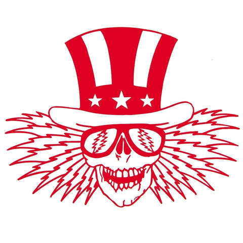 "Grateful Dead - Red Uncle Sam Cutout Decal 5"" x 6"""