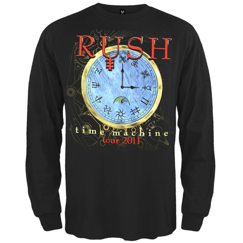 Rush - Time Machine Clock Long Sleeve T-Shirt