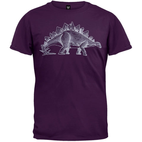 Antlers - Stegosaurus Soft Purple Adult T-Shirt