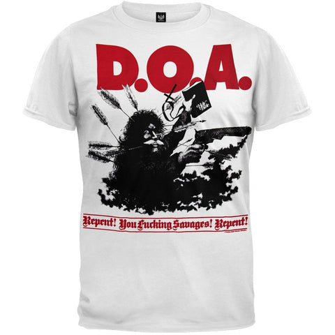 D.O.A. - Repent You Fucking Savages! Repent! T-Shirt