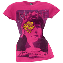 John Lennon - Yellow Flower Juniors T-Shirt