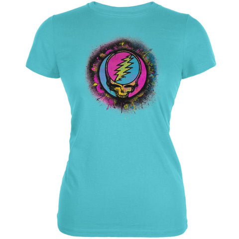 Grateful Dead - Splatter SYF Aqua Juniors T-Shirt