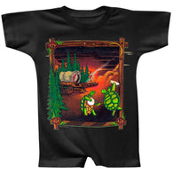 Grateful Dead - Covered Wagon Black Infant Romper
