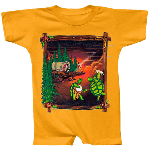 Grateful Dead - Covered Wagon Gold Infant Romper
