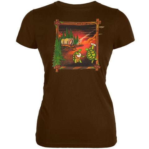 Grateful Dead - Covered Wagon Chocolate Juniors T-Shirt