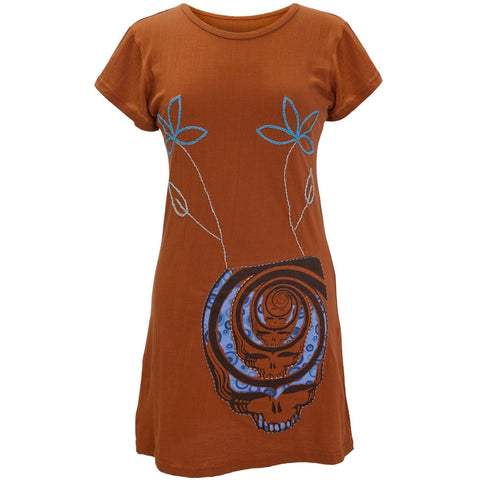 Grateful Dead - Spiral SYF Juniors Cap Sleeve Dress