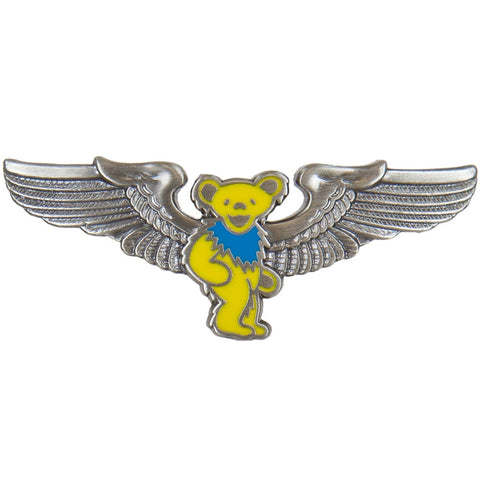 Grateful Dead - Yellow Dancing Bear Pilot Pin