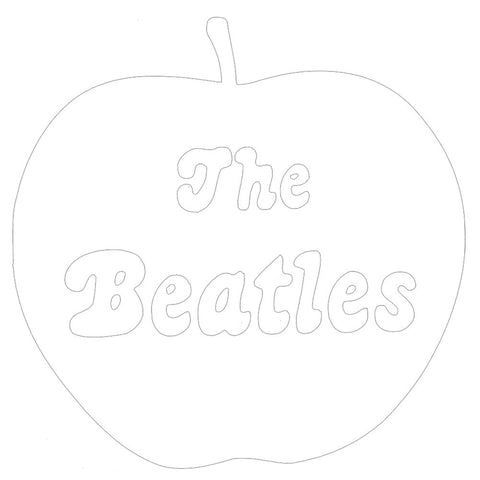Beatles - Apple Logo White Cutout Decal 5 x 4.5