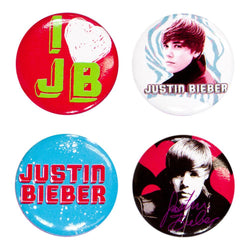 Justin Bieber - 4-Piece Button Set