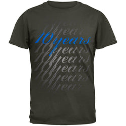 10 Years - Blue Script Logo Tour T-Shirt