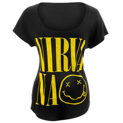 Nirvana - Smiley Juniors Dolman T-Shirt