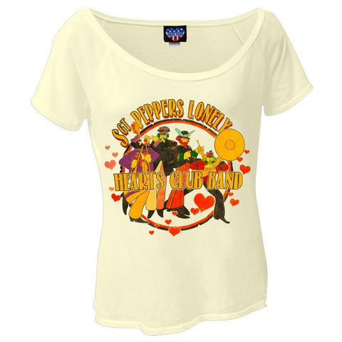 Beatles - Lonely Hearts Band Juniors Dolman T-Shirt