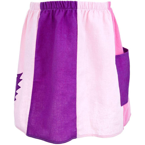 Grateful Dead - Lightning Bolt Pink Juvy Panel Skirt