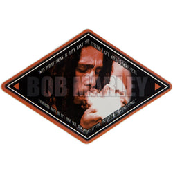 Bob Marley - Smoke Diamond Decal 4.5 x 6