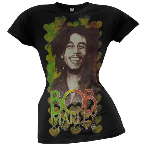 Bob Marley - Heart Portrait Junior T-Shirt