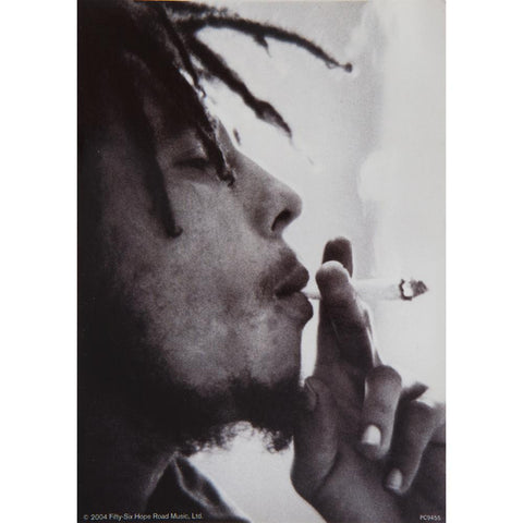 Bob Marley - Side Smoke Postcard