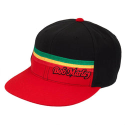 Bob Marley - Rasta Stripe Yellow Fitted Cap