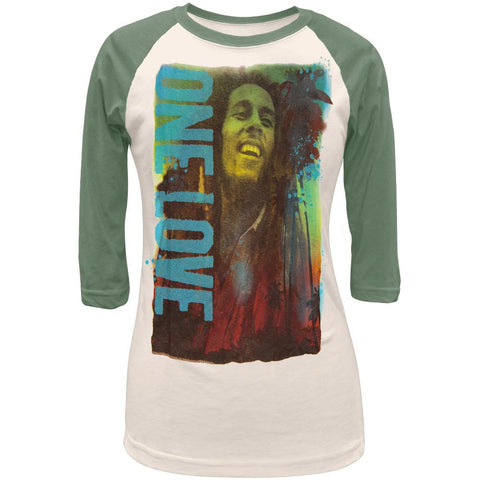 Bob Marley - Blue Love Juniors Raglan