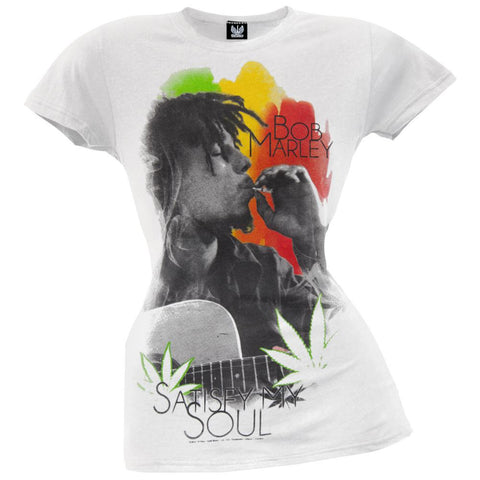 Bob Marley - Satisfy My Soul Juniors White T-Shirt