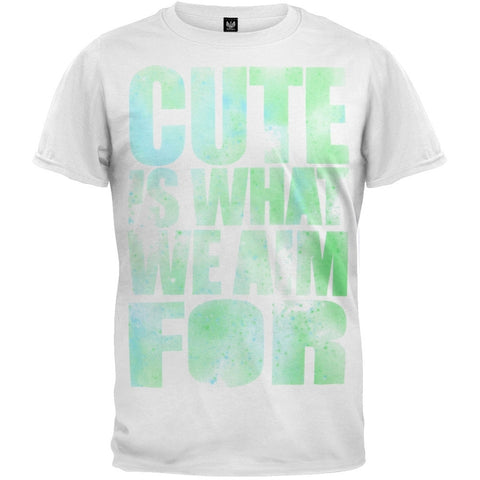Cute is What We Aim For - Stencil Soft Youth T-Shirt