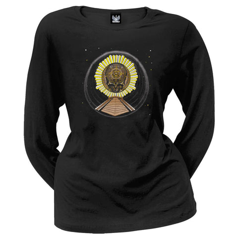 Grateful Dead - Aztec Stealie Juniors Slouch Long Sleeve T-Shirt