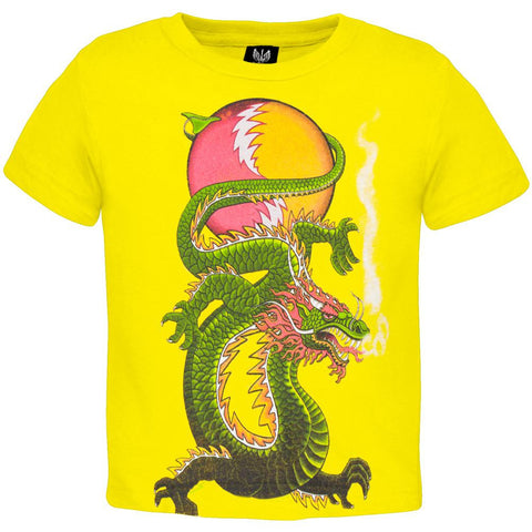 Grateful Dead - Lightning Bolt Dragon SYF Yellow Toddler T-Shirt