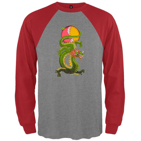 Grateful Dead - Lightning Bolt Dragon Grey Raglan