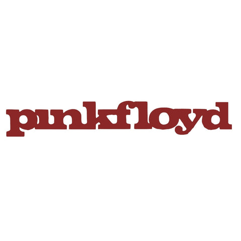 "Pink Floyd - Early Logo Cutout Decal Red 1"" x 7"""