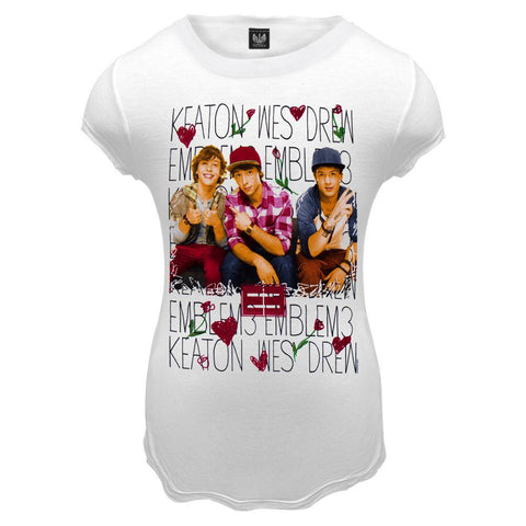 Emblem3 - Keaton, Wes, Drew Girls Youth T-Shirt