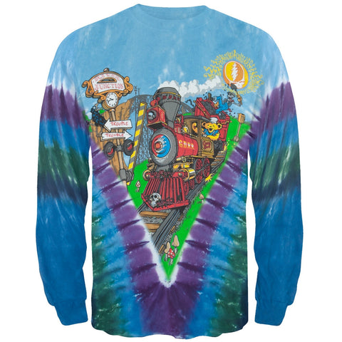 Grateful Dead - Casey Jones Tied Dye Long Sleeve T-Shirt