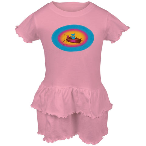 Grateful Dead - Terrapin & Bear Dinghy Light Pink Toddler Ruffle Dress
