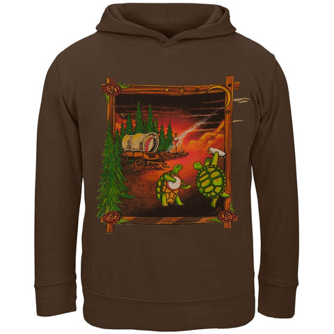 Grateful Dead - Covered Wagon Brown Toddler Hoodie