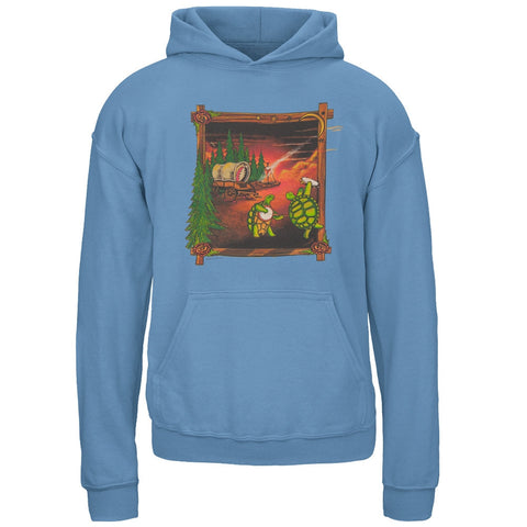 Grateful Dead - Covered Wagon Light Blue Youth Hoodie