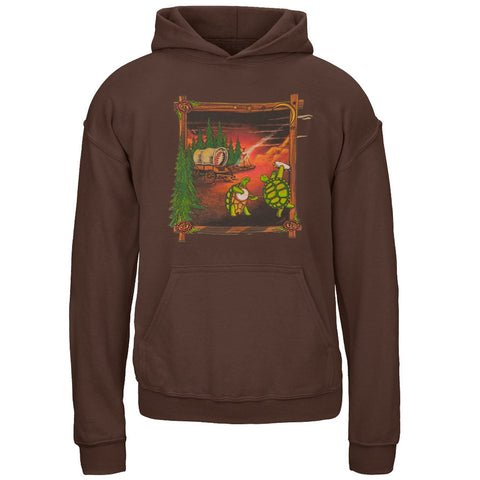 Grateful Dead - Covered Wagon Dark Chocolate Youth Hoodie