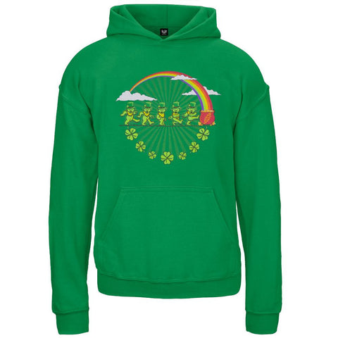 Grateful Dead - Leprechaun Bears Kelly Green Youth Hoodie