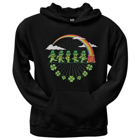 Grateful Dead - Leprechaun Bears Black Pullover Hoodie