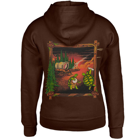 Grateful Dead - Covered Wagon Terrapins Dark Brown Youth Hoodie